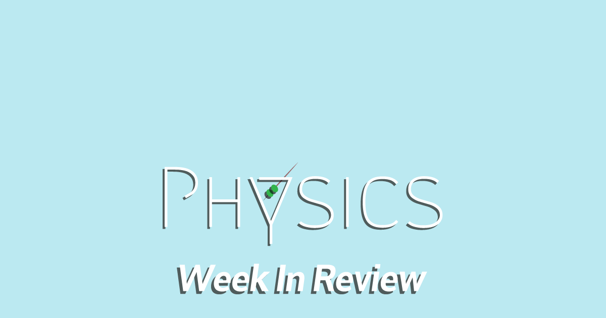 Physics Week in Review: June 2, 2018 - Cocktail Party Physics
